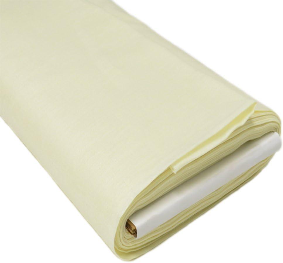Irish Handkerchief Linen, Estopilla- 35-36 Inches Wide, Over 100 Yards in Stock - 100% Irish Handkerchief Linen Fabric - Many Colors Available - Light Yellow