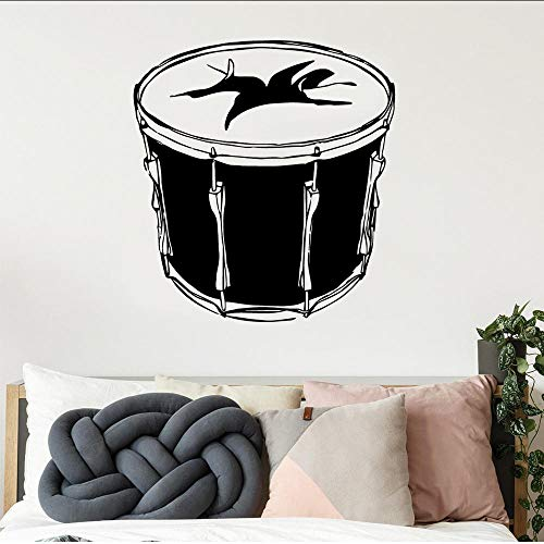 Pegatina de pared de tambor clásico decoración del hogar decoración para habitaciones de niños pegatina decoración del hogar pegatinas de Mural para sala de estar Muraux 57Cm X 61Cm