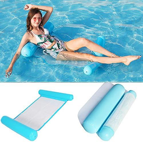 Wasser hängematte Schwimmbett,4-in-1Loungesessel Pool Lounge luftmatratze Pool aufblasbare hängematte Pool aufblasbare Wasserhängematte für Erwachsene und Kinder (blau)