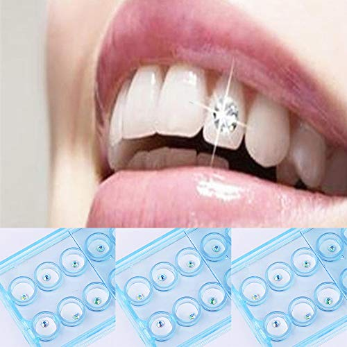 Clearance Sale!DEESEE(TM)10pcs/Box 2mm Dental Colorful Crystal Tooth Jewelry Gem Ornaments Decor