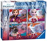 Ravensburger Kinderpuzzle 03019 Disney Frozen 2: 4 Puzzles in a Box Puzzle-12/16/20/24 Teile -
