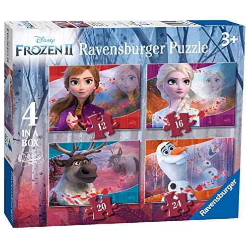 Ravensburger Frozen 2 Puzzle 4 in a Box, Multicolore, 03019