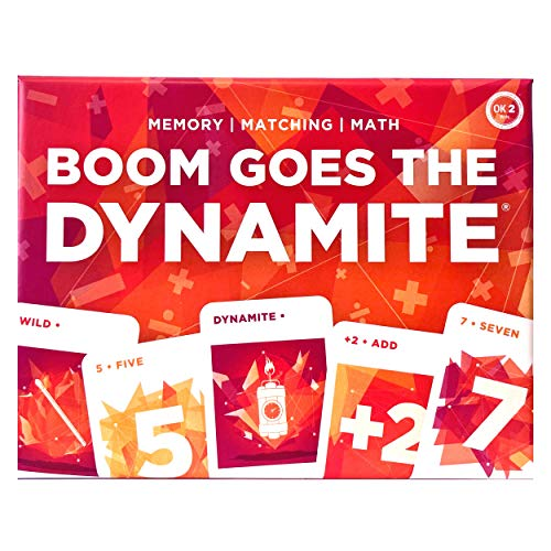 Boom Goes The Dynamite Card Game for Kids Adults Family; Memory Matching Math (STEM); 2-6 Players per Deck