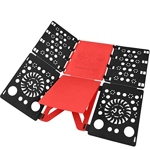 BoxLegend V2 Shirt Folding Board t Shirts Clothes Folder Durable Plastic Laundry folders Folding Boards flipfold (Adult)