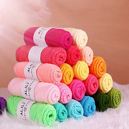 500g/lot 10pcs/lot Bamboo Baby Soft Yarn Crochet Cotton Knitting Milk Cotton Yarn Knitting Wool Thick Yarn for Scarf Sweater