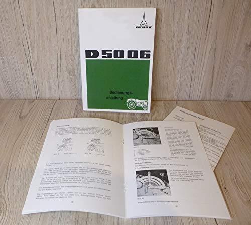 Bedienungsanleitung Deutz Schlepper D5006 D 5006