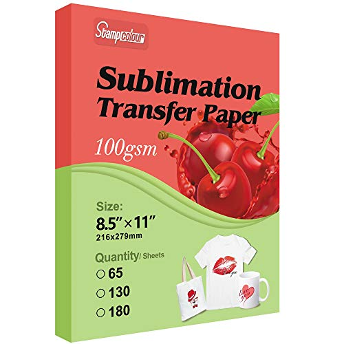 Sublimation Paper Heat Transfer Paper 8.5x11 inch A4 130 Sheets for Any Epson HP Canon Sawgrass...