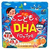 Unimat Riken DHA Drop Gummy for Children, Orange Flavor, from Japan