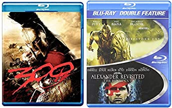 3 Pack of Epic Historical Battles on Blu-ray - 300 & Alexander Revisited:The Final Cut/ Troy (Director's Cut) 3-Movie Bundle