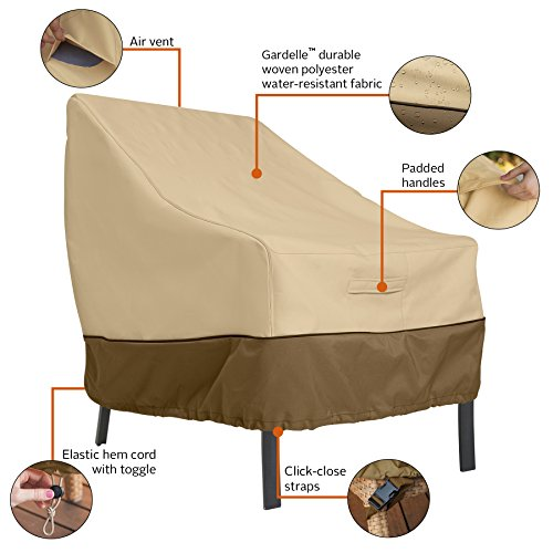 Classic Accessories Veranda Water-Resistant 38 Inch Patio Lounge Chair Cover