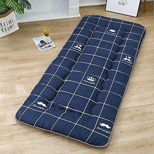 DNGDD Colchón de futón de Piso, tapete de Tatami Grueso, Almohadilla para Dormir, Cama Plegable, colchón Enrollable, sillones de Cama, 90cm * 190cm
