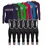 UGLY FROG Winter Fleece Thermisches Radtrikot Damen Set Fahrradbekleidung Fahrradtrikot Langarm und Radhose mit 20D Bib Sitzpolster