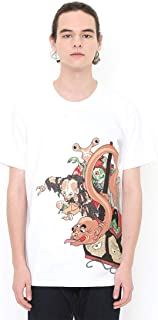 (グラニフ) graniph コラボレーション Tシャツ おもい津々羅 (月岡芳年) (ホワイト) メンズ レディース