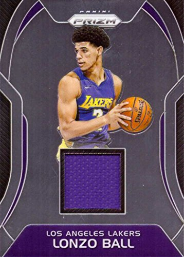 2017-18 Panini Prizm Sensational Swatches Relics #SW-LB Lonzo Ball Player Worn Jersey Basketball Card from Rookie Season
