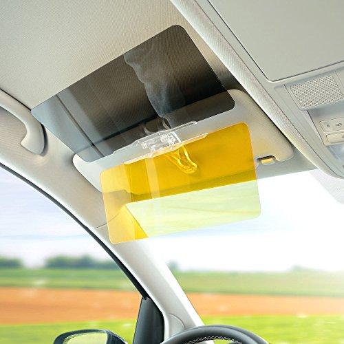 2in 1Car trasparente parasole auto anti-glare Goggle multifunzione Mirror giorno e notte