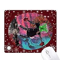 フラフラしてabstrat芸術の秋 オフィス用雪ゴムマウスパッド