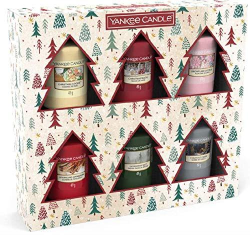 Yankee Candle - Set di 6 candele votive natalizie.