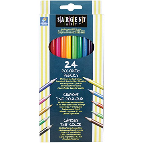 Sargent Art 227224 24Count Assorted Colored Pencils
