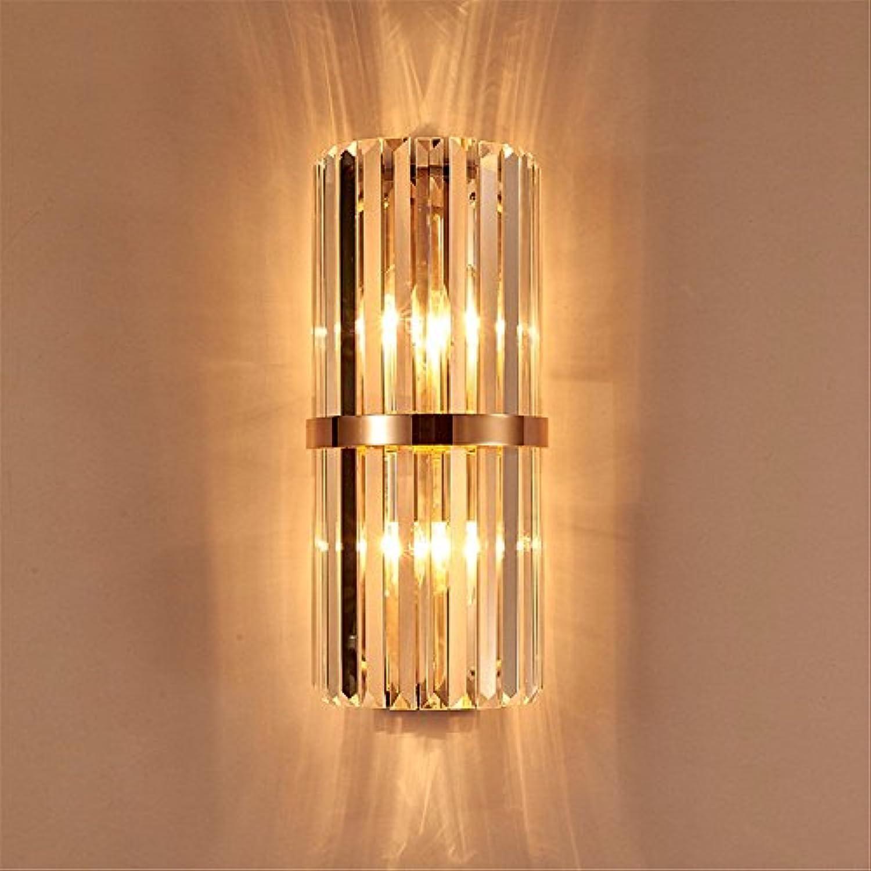 StiefelU LED Wandleuchte nach oben und unten Wandleuchten Schlafzimmer Bett Edelstahl crystal Wandleuchte villa Vorlage Zimmer korridorwnden eingerichtetes Wohnzimmer.
