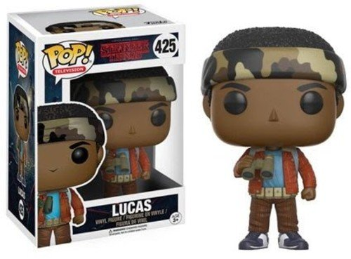 Funko Pop!- Stranger Things: Lucas Sinclair (W/Binoculars) Figurina de Vinilo, Multicolor, Estandar (13324)