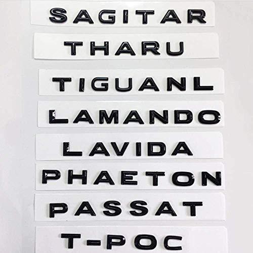Logotipo de coche y de identidad para Usado para For VW GOLF PASSAT PHIDEON MAGOTAN FAETÓN TOUAREG LAVIDA T POC, coches reinstalado tronco etiqueta brillante Negro cartas Emblema Cartas de automóviles