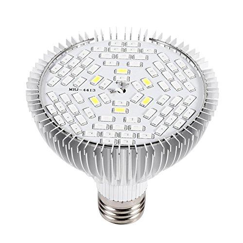 Luz de crecimiento de plantas, fácil de usar, espectro completo E27, bombilla de luz de crecimiento, ángulo de haz de gran angular, 1 pieza, luz de cultivo de horticultura, luz de tienda de(78LED)