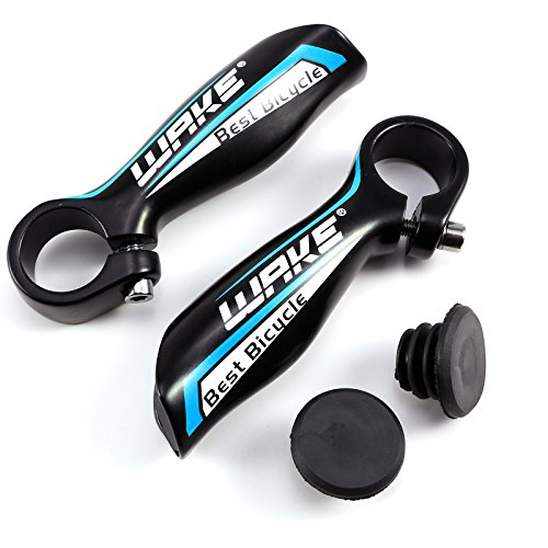 Hamimelon Manillar Acoples para Bicicleta de Montaña MTB BMX Ciclismo Diámetro 22.2mm en Colores (Negro&azúl)