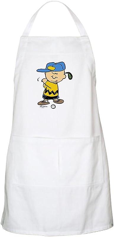 CafePress Charlie Brown Golfer BBQ Apron Kitchen Apron With Pockets Grilling Apron Baking Apron