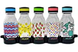 Reduce WaterWeek Reusable Water Bottles, 14oz – Includes 5 Refillable Water Bottles Plus Fridge Tray For Your Reusable Water Bottle Set – BPA-Free, Leak Proof Twist Off Cap – A Lunchbox Must