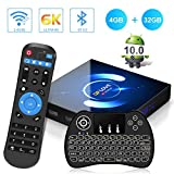 Android 10.0 TV Box, QPLOVE Q6 4GB RAM 32GB ROM H616 Quad-Core 64bit, 2.4/5GHz WiFi 6K / 4K Ultra HD / 3D / H.265 Smart TV Box con Mini Teclado inalámbirco