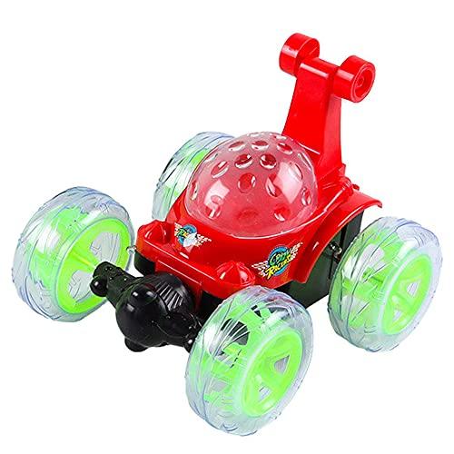 YUMOYA Afstandsbediening auto voor kinderen, RC stuntauto met 360 ° rollende dansvoorstelling Kleurrijke lichten en dynamische muziek Oplaadbare 2,4 Ghz RC auto speelgoed voor jongens en meisjes