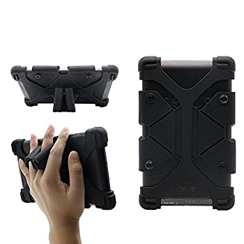 CHINFAI Universal 7 inch Tablet Case Shockproof Silicone Stand Cover for All Versions RCA Voyager Vankyo Yuntab Samsung Google Nexus MatrixPad Z1 Huawei 7  Android Tablet and More Black