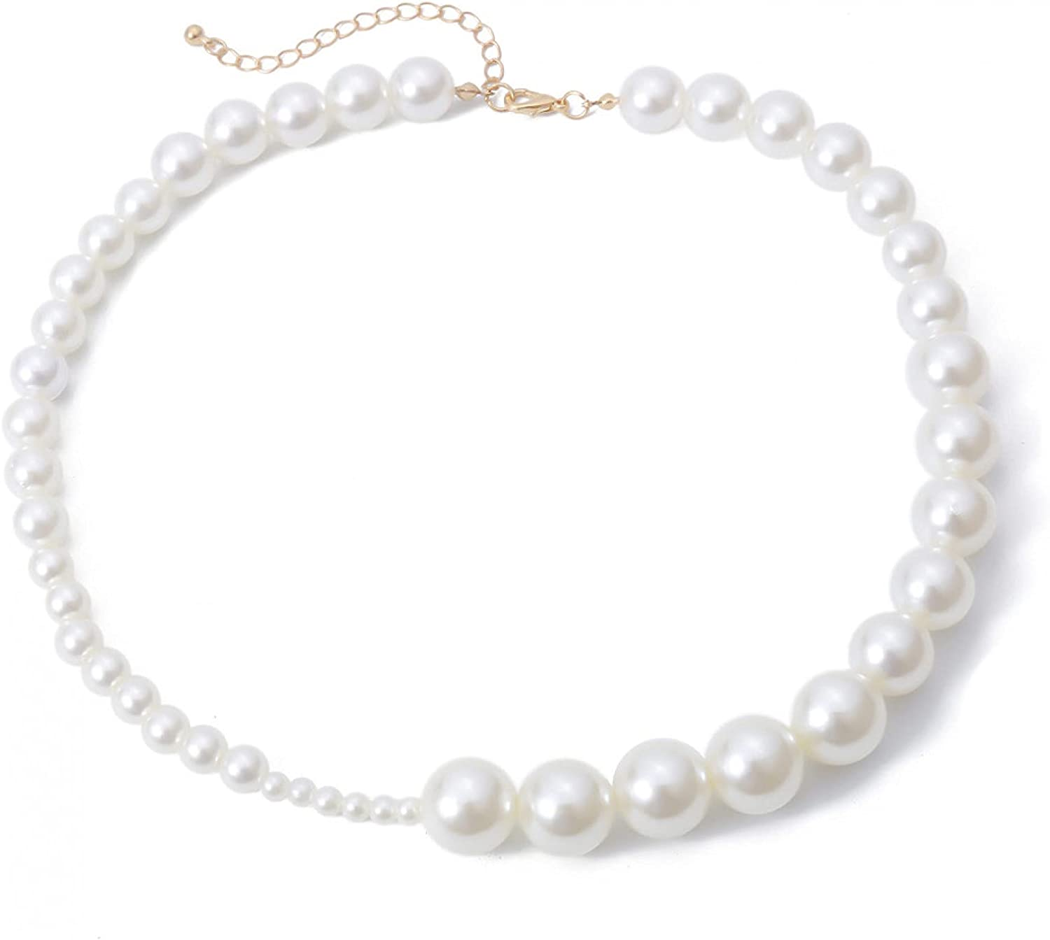 Necklace Pendant Jewelry Pearls Chain Choker Necklace for Female Elegant White Pearl Beads Classic Collar Necklace Wedding Jewelry Halloween Christmas Valentine's Day Birthday Gift