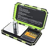 Bilancia Digitale di Precisione, ORIA 200g x 0.0g Bilancia Elettronica, Mini Portatile Bilancia da Cucina con 50g Peso di Calibrazione, 6 Unità e Display LCD Retroilluminato per Cucinare, Droga