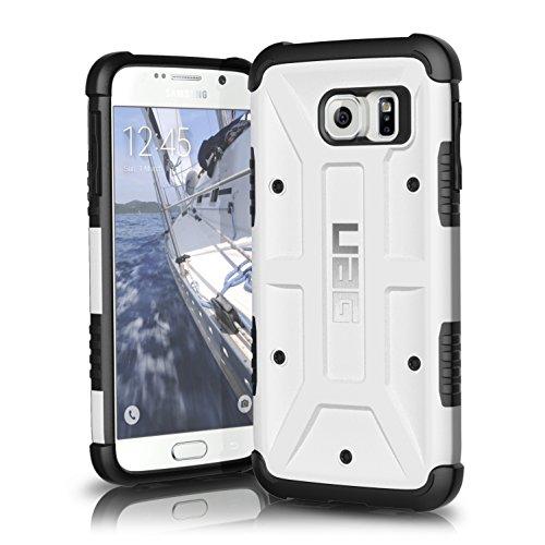Urban Armor Gear Schutzhülle nach US-Militärstandard für Samsung Galaxy S6 - weiß [Verstärkte Ecken | Sturzfest | Antistatisch | Vergrößerte Tasten]