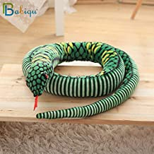 Babiqu 1Pc 280Cm Large Cobra Plush Toy Soft Pillow Horror Props Stuffed Animals Big Size Boa Snake Simulation Cobra Doll For Kid Teen Must Haves Boy Gifts The Favourite Dvd Superhero Classroom