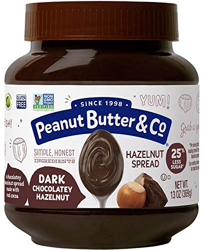 Peanut Butter & Co. Dark Chocolatey Hazelnut Spread, 13 Ounce Jar (Pack of 6)