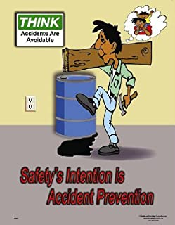 National Safety Compliance Accident Prevention Laminated Safety Poster, 18 X 24 Inches