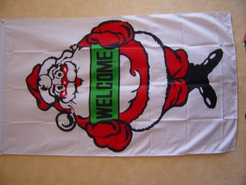 Fahnen Flaggen WEIHNACHTEN / X MAS WELCOME 150 x 90 cm Fahne Flagge