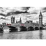 XIANGZIHU Puente de Londres Big Ben diy taladro cuadrado diamante redondo diamante completo punto de cruz 5d pintura de diamante decoración de la sala de estar-30x40cm