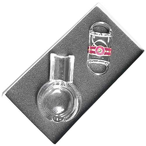 Smokers Einsteiger - Set Zigarrenascher, Zigarrencutter inkl. Lifestyle-Ambiente Tastingbogen