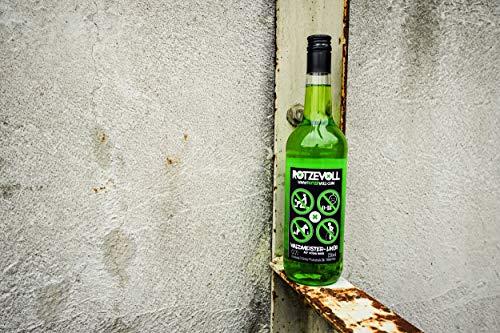rotzevoll ® Waldmeister Likör auf Wodka Basis 0,7l Flasche 15% vol. rotze voll - 2
