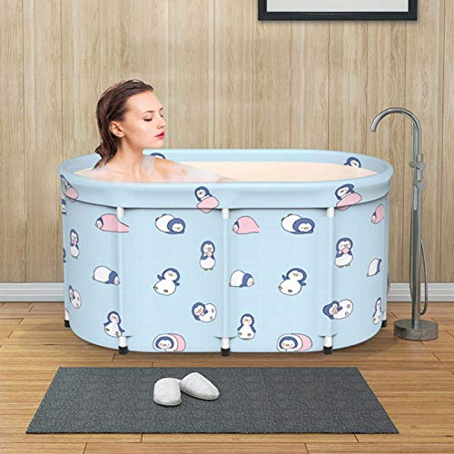 WYJW Tongyundacheng Bañera Plegable portátil, bañera de inmersión Plegable para Adultos, bañera de SPA para baño Familiar separada y Plegable de 80-100 cm, bañera de inmersión de pie, i
