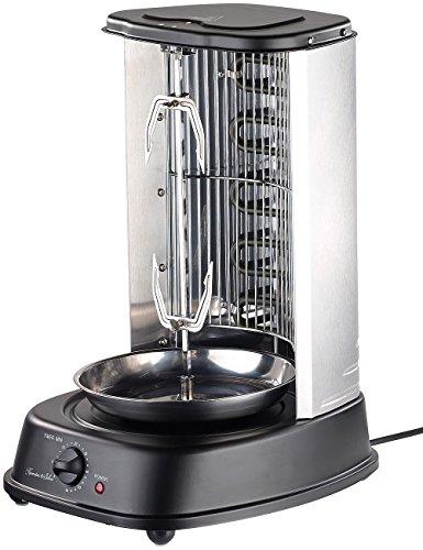 Rosenstein & Söhne Gyrosgrill: Döner- und Gyros-Grill, 2.000 Watt, Mittelspieß mit Spießgabeln, Timer (Döner Schaschlik Grills)