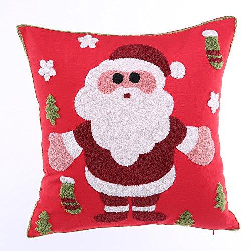 Volver Triángulo Almohada 18 x 18 pulgadas Hogar Sofá Sofá amortiguador de la almohadilla de la serie roja de la Navidad de Santa Claus Impresión suave Tela Plaza almohadilla de tiro de vacaciones Dec