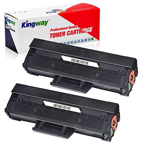 Kingway MLT-D111S D111S Toner compatible pour Samsung MLT-D111S MLT-D111L pour Samsung Xpress SL-M2070W M2026W M2070 M2020 M2070FW M2026 M2022W M2020W M2070W F M207. 1 (2 noirs).