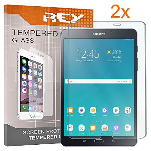"""REY Pack 2X Panzerglas Schutzfolie für Samsung Galaxy TAB S3 9.7\"""" WiFi, Displayschutzfolie 9H+ Härte, Anti-Kratzen, Anti-Öl, Anti-Bläschen"""