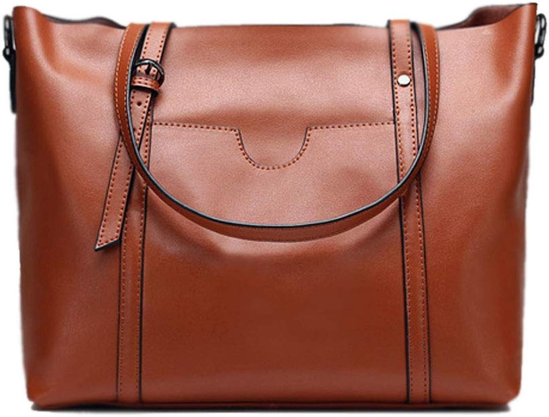 Top Freizeit Mode Frau Weiche Dame Taschen Big Bag Handtasche Hohe Kapazität Umhängetaschen Umhängetasche Brieftasche (Farbe   braun) B07HD5JT23