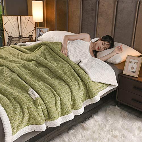 LYYJF Manta de forro polar de franela de alta calidad, suave y acogedora, para sofá de cama, sofá de 180 x 200 cm