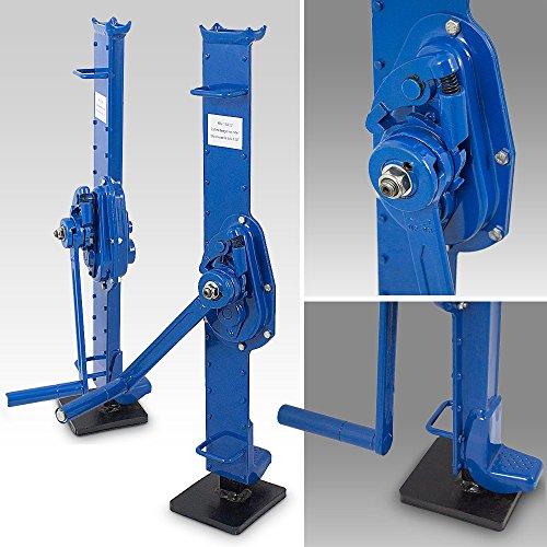 ms-point BITUXX® Stahlwinde 1,5 t Zahnstangenwinde Stockwinde Hubwinde Hebewinde 1500 kg Winde